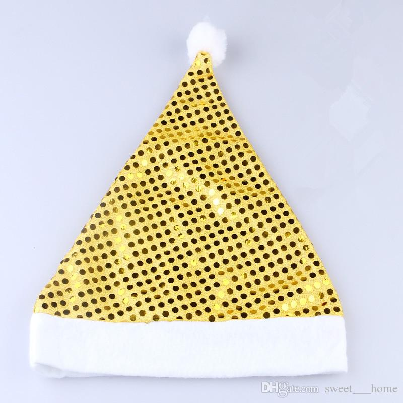 Nuevo sombrero de lentejuelas La fiesta de Navidad suministra adornos navideños para decoraciones navideñas