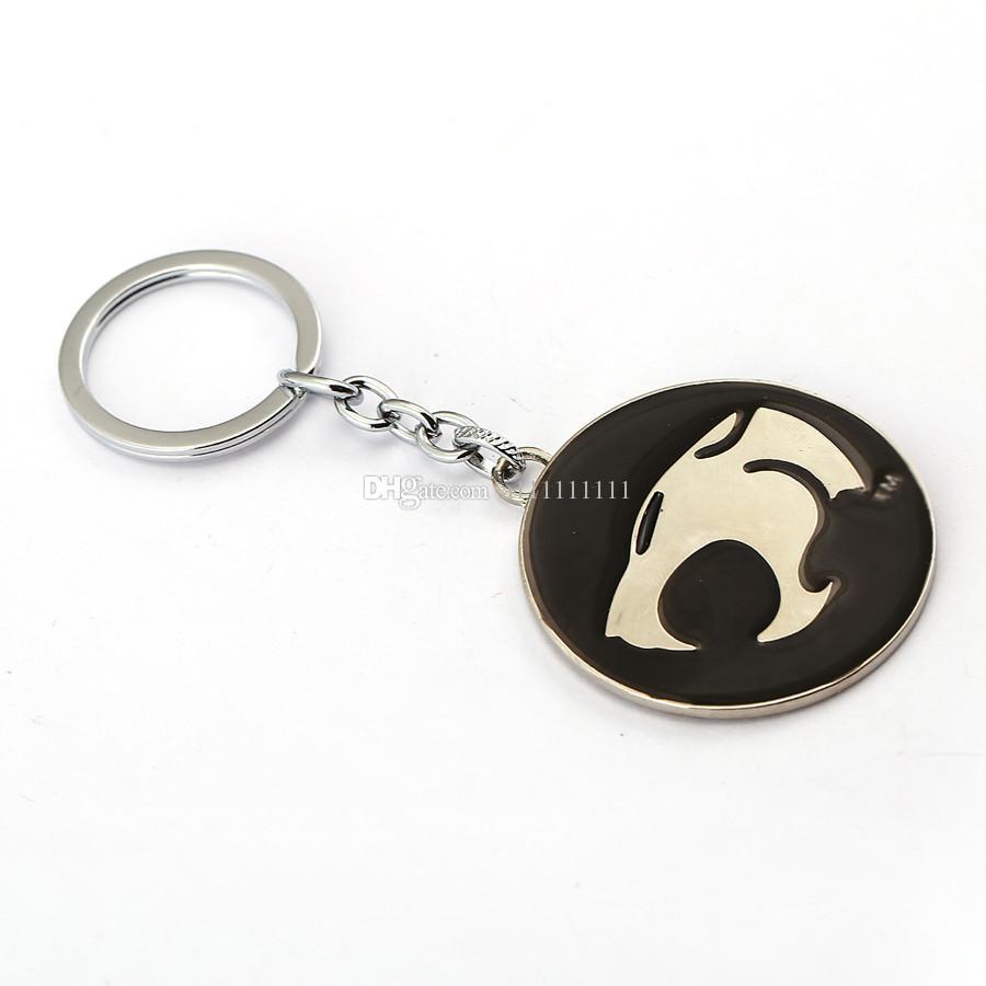 Venda quente Thundercats Chaveiro Liga de Metal Chaveiro Cabeça de Cão Keychain Personalidade Presente 3 Estilos Frete Grátis