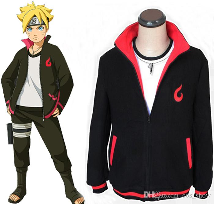 2018 New Anime Naruto Uzumaki Fleeces Cosplay Costume Casual Hoodie Daily Jacket Sweashirts Unisex Zippered Hoodies Tops From Cos Show 3045