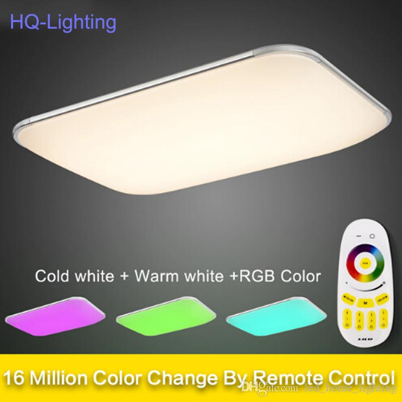 Best Quality New Modern Led Ceiling Light With 2 4g Rf Remote Group Controlled Dimmable Color Changing Lamp For Livingroom Bedroom At