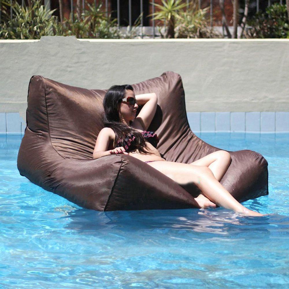 Float Beanbag Pool Bolsa de frijoles flotante Muebles para exteriores Sofá de gran tamaño Lujo Acomodar cómodamente Dos adultos Solo cobertura Sin relleno