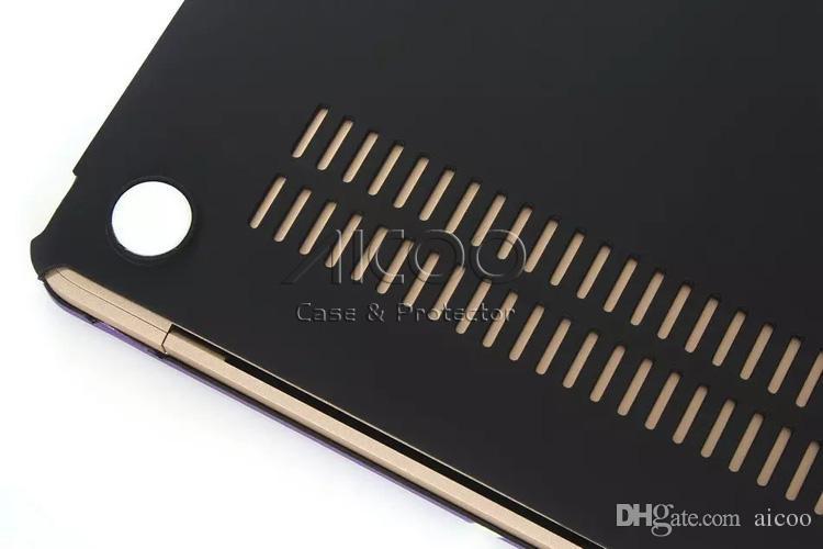 Aicoo pour Macbook Air Pro Retina 11.6 12 15,4 pouces Nouveau Pro13.3 A1932 A1708 Couleur Imprimé Macbook Full Body Body Productive Cas plastique Emballé