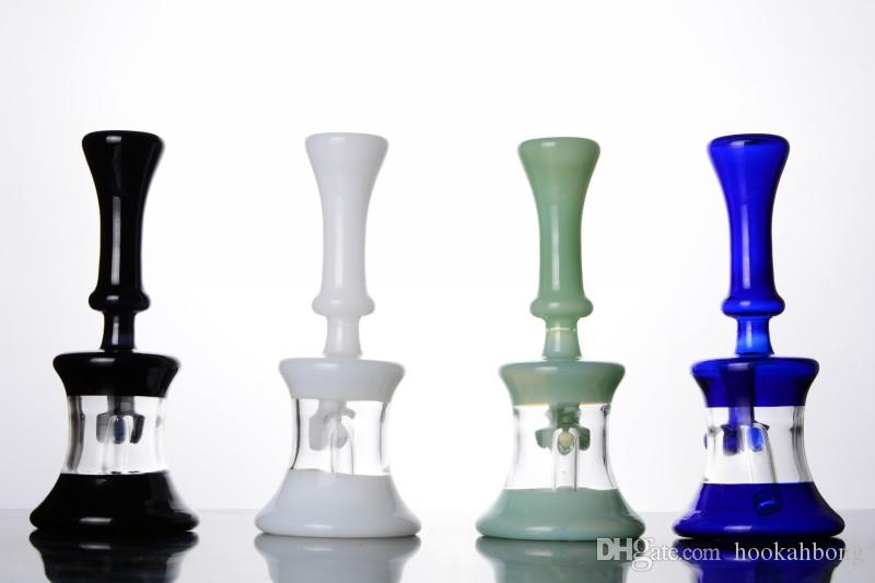 Buntes Becherglas bongs mit diffusem downstem dab rig Wasserrohr mit 14 mm shisha Gelenke