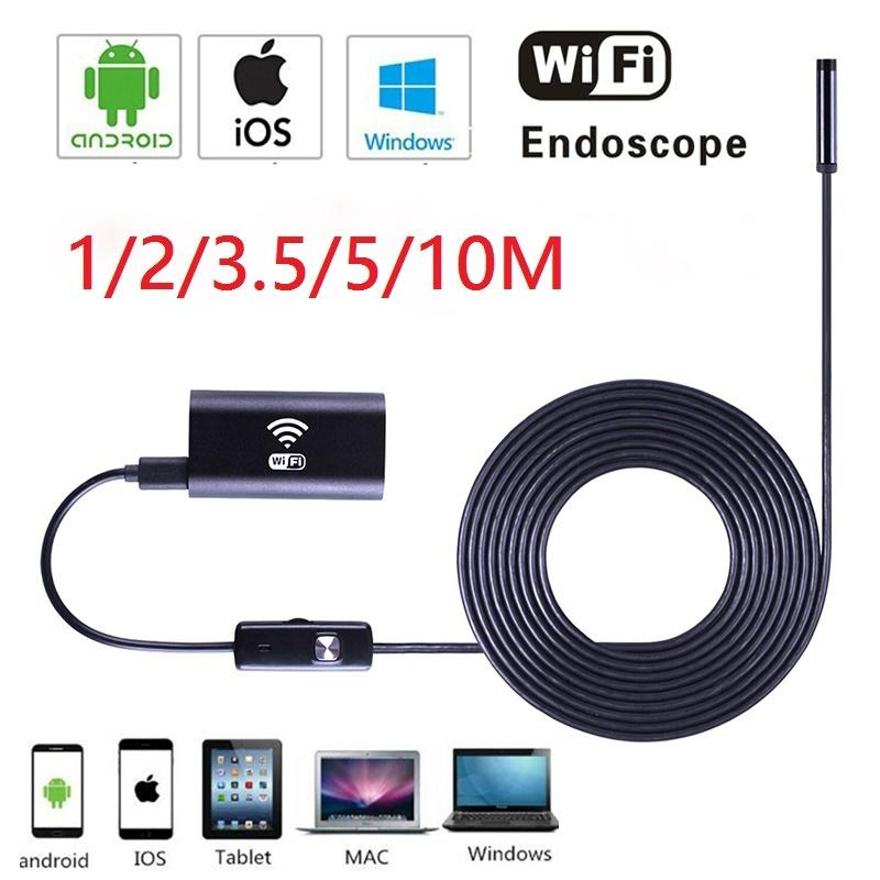 Werkzeuge Wireless Endoskop Wifi Inspektion Endoskop Flexible Snake Kamera 1280*720 Ip67 Wasserdichte Endoskop