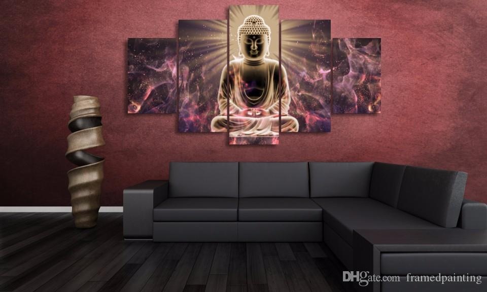 Framed HD Printed Buddha Art Picture Wall Art Canvas Print Decor Poster Abstract Canvas Oil Painting