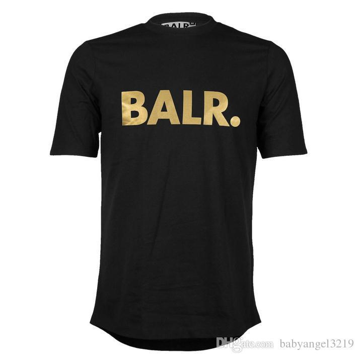 Livraison Gratuite Hommes T Shirts Balr street marée marque manches courtes col rond en vrac à manches courtes en coton hommes personnalité masculine T-shirt