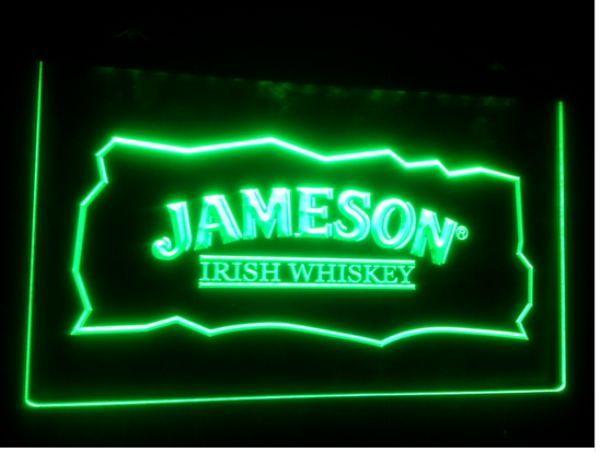 2019 Jameson Whiskey Bar Club Pub LED Neon Light Sign Home