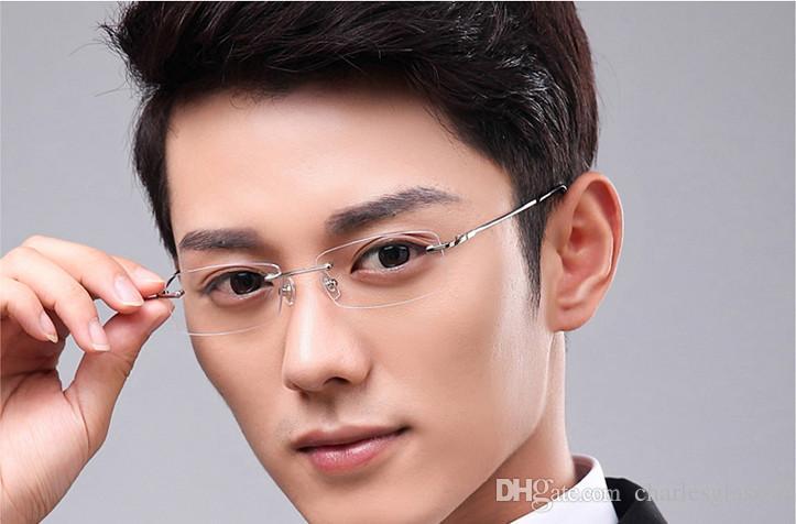 Einzelhandel 1 stücke metall randlose Brillen rahmen optische gläser rahmen für rezept 8119