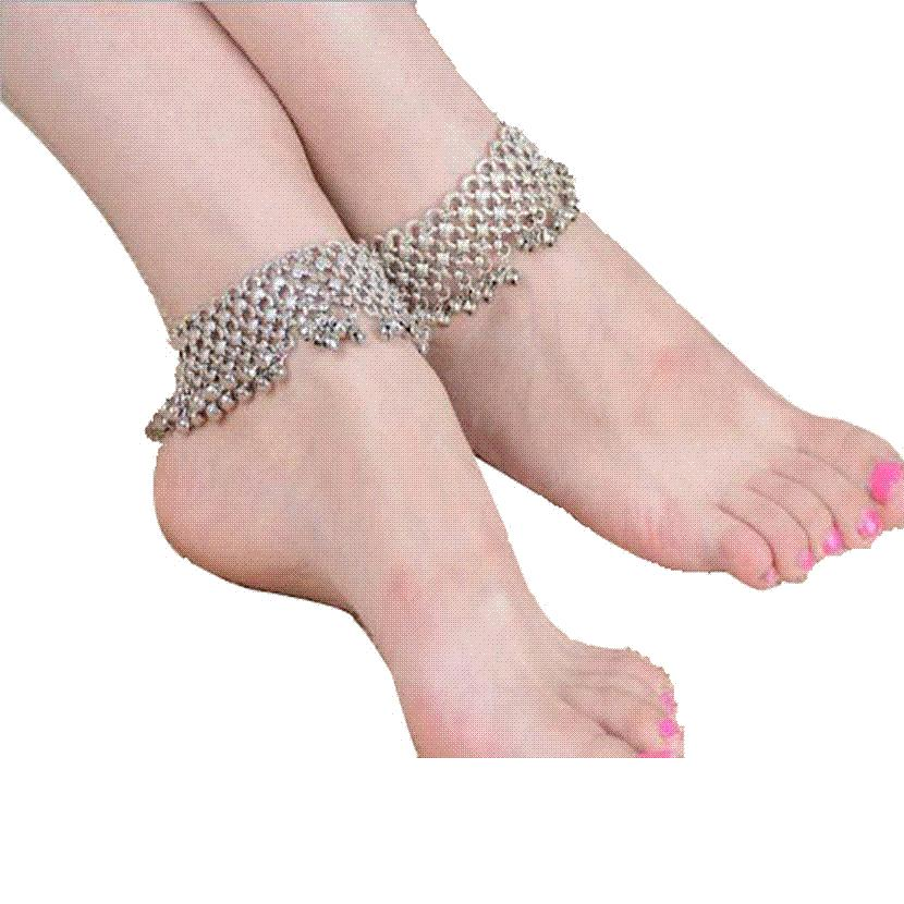 1pcs Vintage Silver Anklets leg chain Bohemian beach Ankle Bracelet & bracelet Barefoot Sandals Foot Jewelry For Women