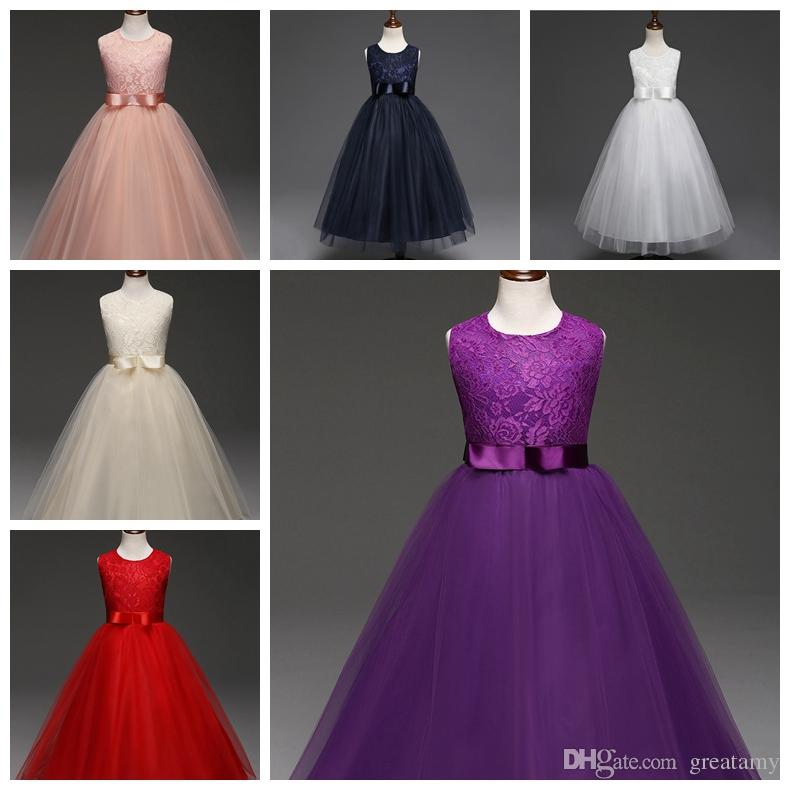 85bf46290fc7 2019 Children Clothing Girl Kids Clothes Embroidery Lace Flower Girls Dress  For Wedding Events Party Baby Girl Birthday Dress Frocks Ceremonies From ...