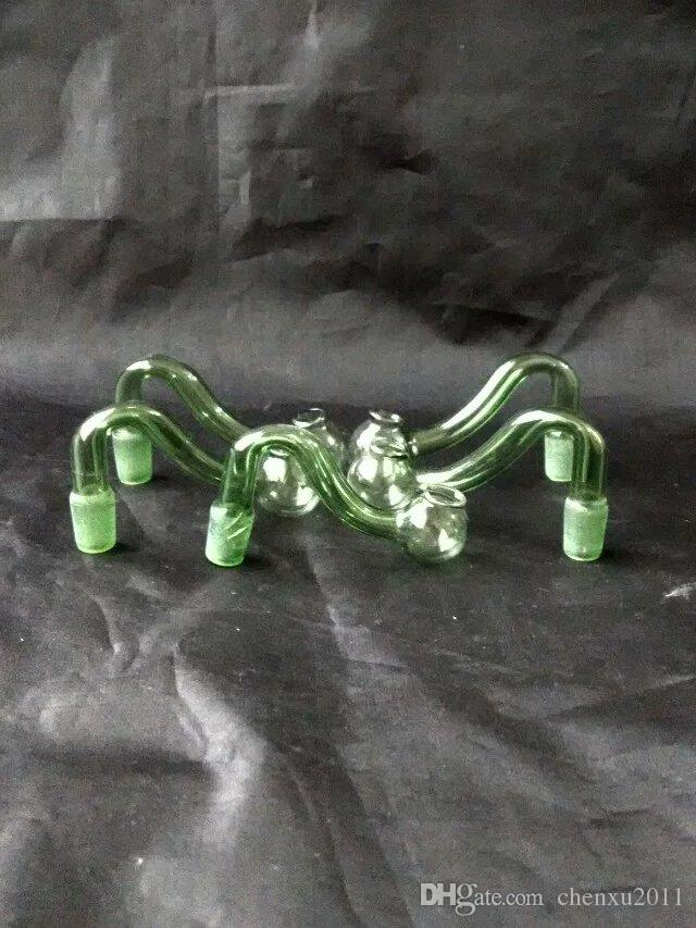 S Pipe Rauchglas Bongs Zubehör, Wasserpfeifen Glas Bongs Hooakahs zwei Funktionen für Ölplattformen Glas Bongs