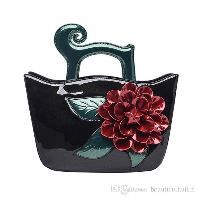 b325ad29e8ea Elegant Patent Leather Women Handbag Medium Women Shoulder Bags Classy  Flower Women Leather Handbags Tote Female Fashion Bag HLB036 Cheap Bags  Cheap ...