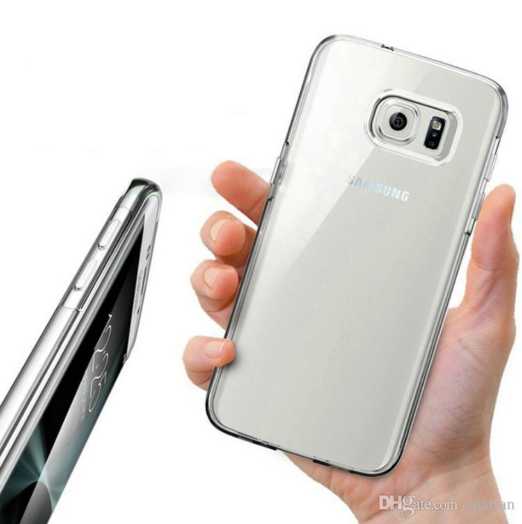 Clear Case Cover For Samsung S8 S6 S7 Note 8 iPhone X 8 MOTO E4 LG X Power 2 Anti-Watermarking 1.0mm High Quality TPU Crystal Flexible Case
