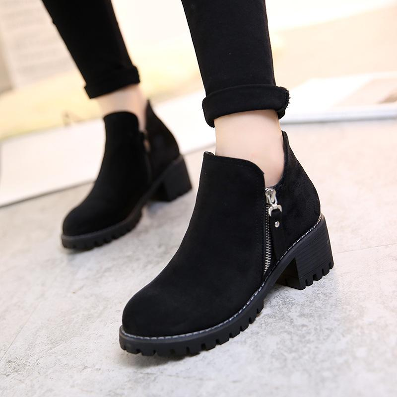 autumn and winter plus size women's shoes 41 43 fashion riding