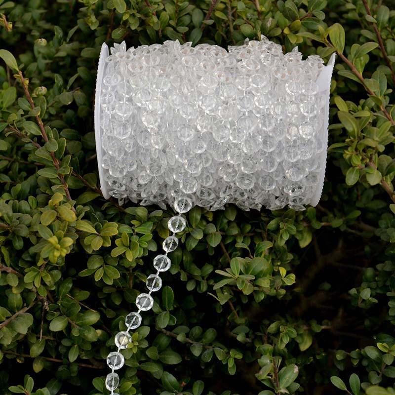 30 Meter 99 Fuß Garland Diamond Strand Acryl Crystal Bead Hochzeit Dekor Geburtstag Weihnachten Decor DIY Vorhang Dekoration
