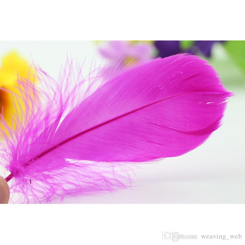 50 piezas plumas de pavo natural de calidad mucho 5-7inches / 13-15cm decoración elegante de la joyería DIY es
