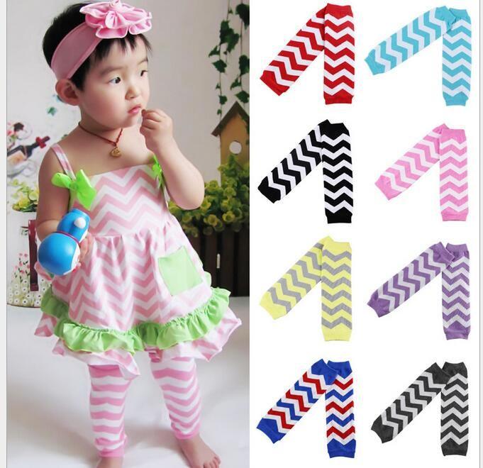 Baby Chevron Leg Warmer kids Leg guard protector infant colorful knee pad child socks cotton Legging Tights Leg Warmers