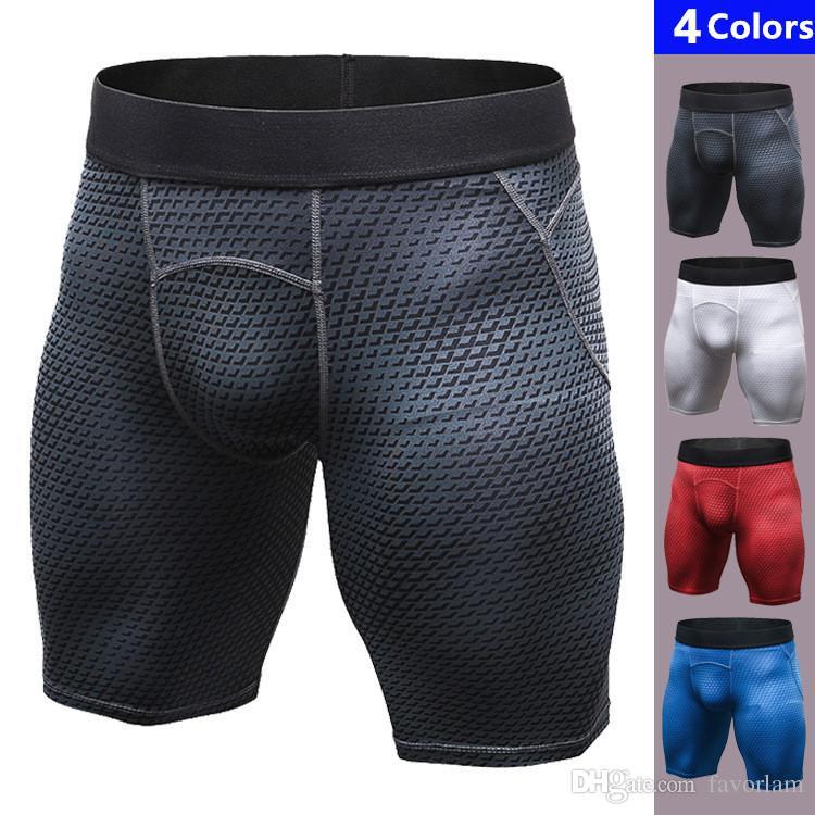 562c7815bf Hot Mens RunningShorts Quickly Dry Gym Sport Legging Crossfit Men's ...