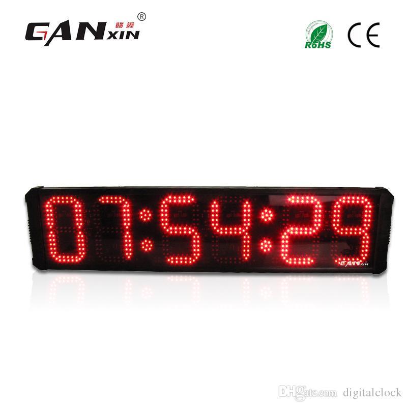 1606d7eeb Compre Ganxin 8 Pulgadas 6 Dígitos Gran Pantalla LED Roja Reloj Digital Con  Control Remoto Reloj De Pared Temporizador De Cuenta Regresiva A $285.43  Del ...