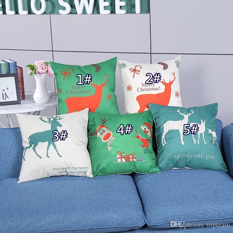 Conception de couture coussin oreiller cadeau coton doux cas couverture jeter canapé Maison Nouveau