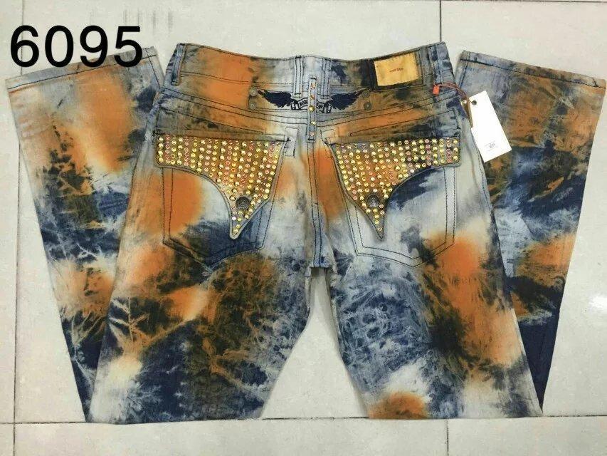 Lourde moto hommes strass Jeans cristallisé clouté flaps Jeans droites Hommes détresse pantalon True Robin Biker Jeans taille 30-42