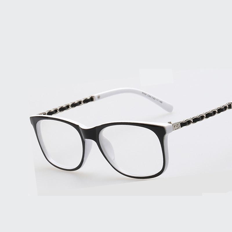 fc446c437a601 Compre Atacado New Women Square Glasses Frame Armações De Óculos Ópticos  Myopia Eyewear Prescrição De Óculos Para Homens Clear Lens Oculos De Grau  De Juaner ...