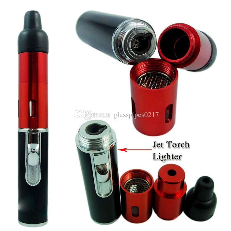 Clicca all'ingrosso N Vape sneak un Vape tubi portatile fumare ricaricabile di gas butano built-in torcia antivento Jet Flame Lighter