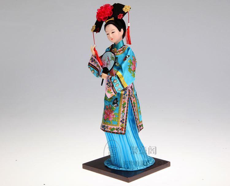Opera di Pechino nella dinastia Qing Princess Cina artigianato in seta umanoidi umano ornamenti 12 pollici bambola bambola Palace