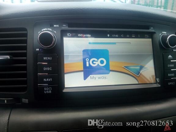 Yeni ücretsiz kargo Corolla E120 2003 için Araba DVD oynatıcı 2004 2004 2005 2006 2007 2008 gps navigasyon bluetooth radyo çalar Destek kamera