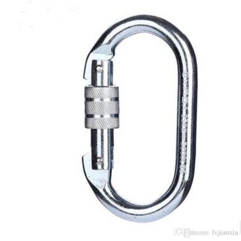 10/LotCarabiner Ring Keyrings Key Chains Sport Carabiner Camp Snap Clip Hook Keychain Hiking Aluminum Convenient Hiking Camping Clip