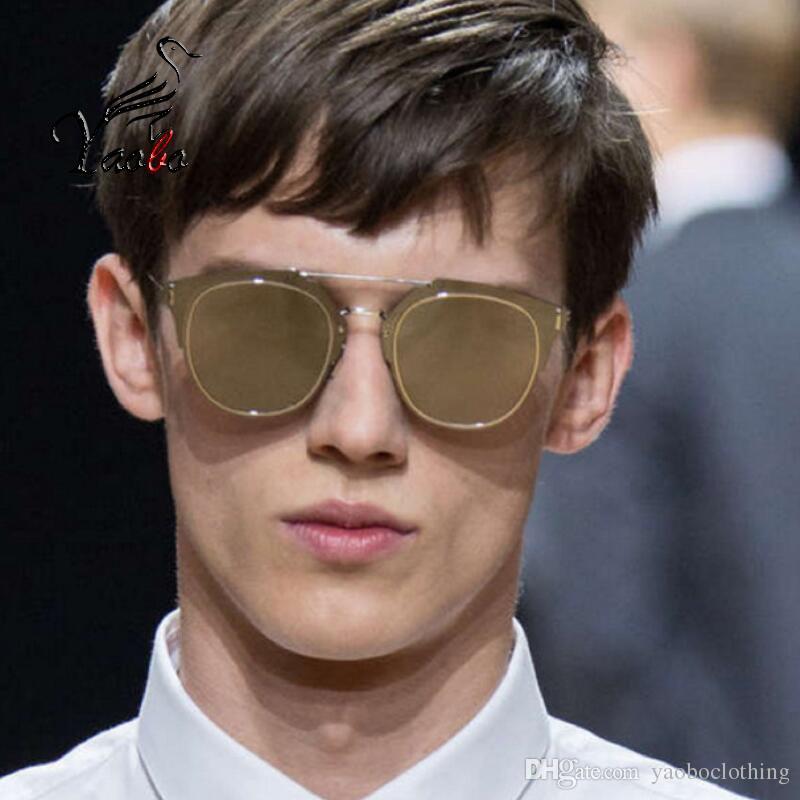 ab889bf9e2 Yaobo Star Style Reflected Sunglasses Women Luxury Fashion Summer ...
