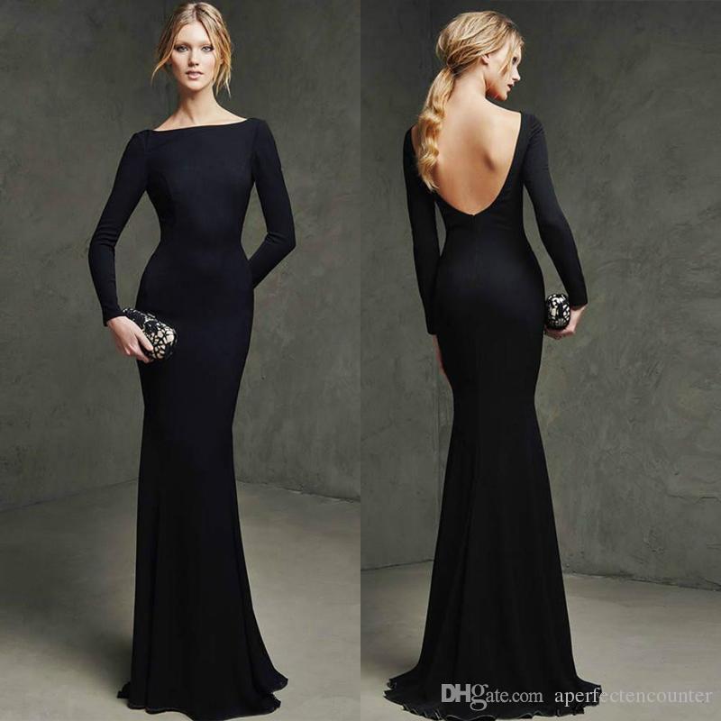 Kleid schwarz lang mit armel