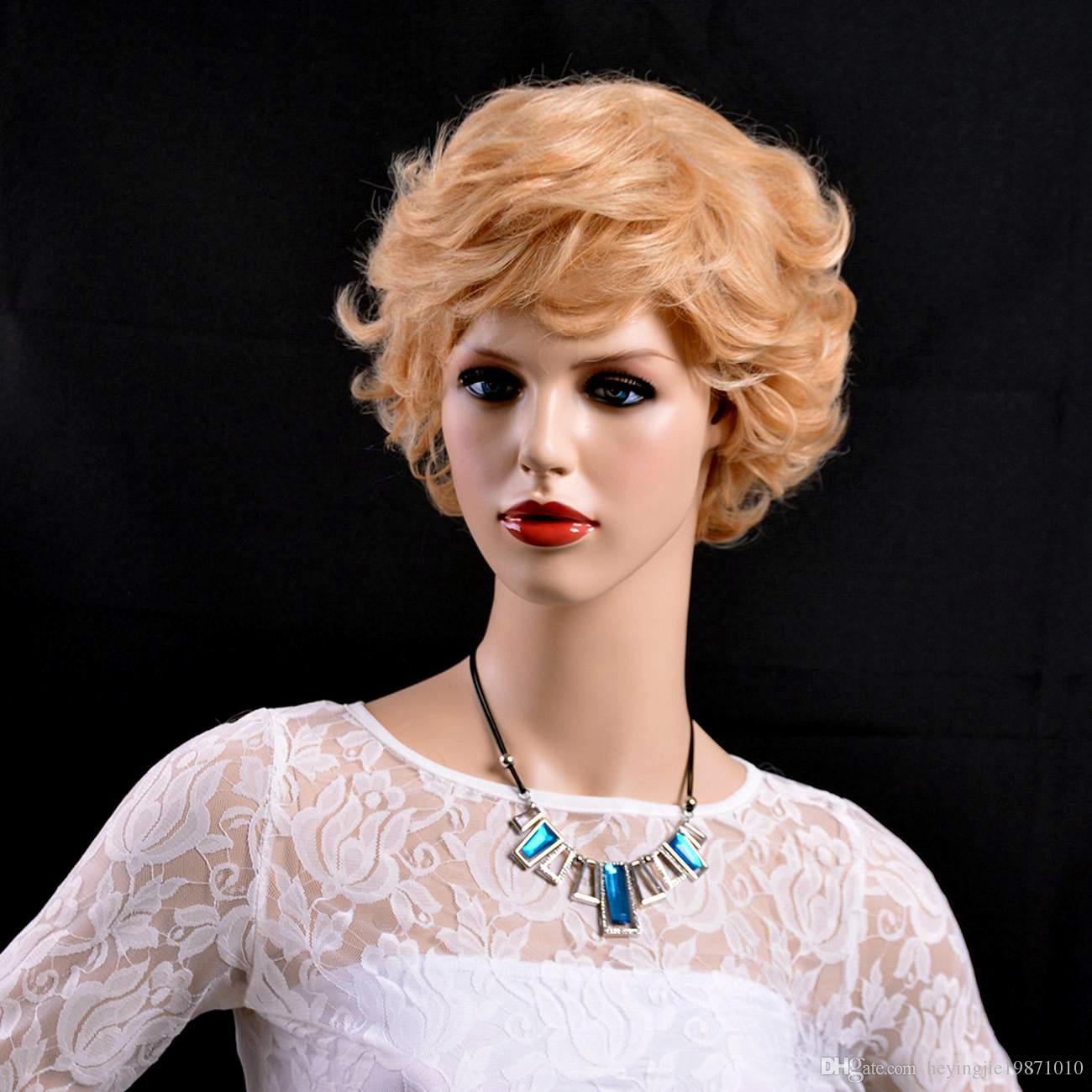 Xiu Zhi Mei eski Kadınlara Yaşlı Lady Gümüş beyaz kısa Peruk yan patlama moda Isıya Dayanıklı sentetik gri saç modelleri saç peruk