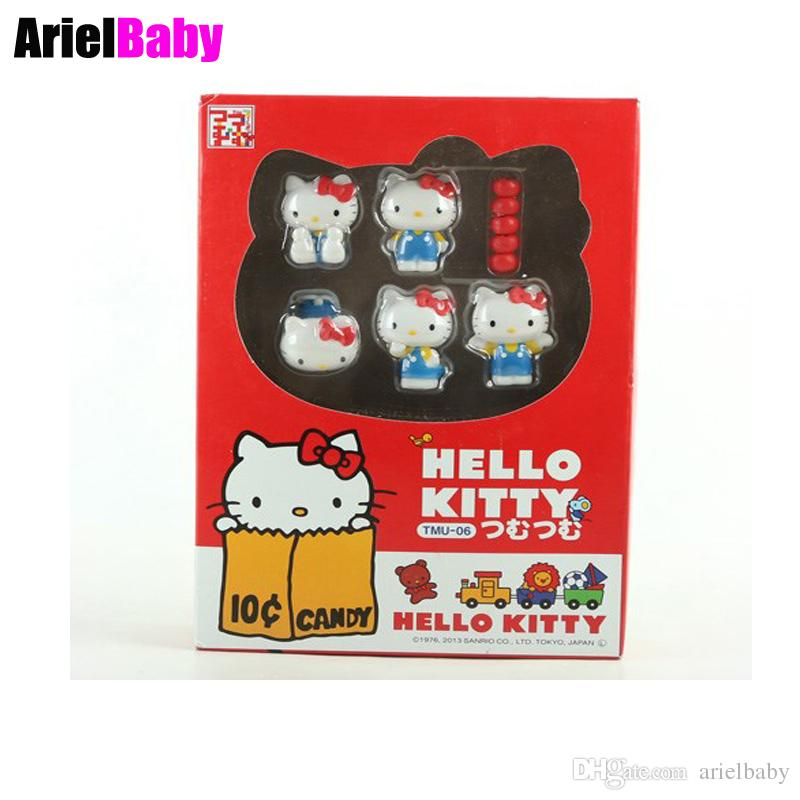 Toys & Hobbies Ohmetoy 6pcs Hello Kitty Baby Dolls Kt Toy Mini Model Action Figure Cake Toppers Brinquedos Juguetes Kids Girl Gift