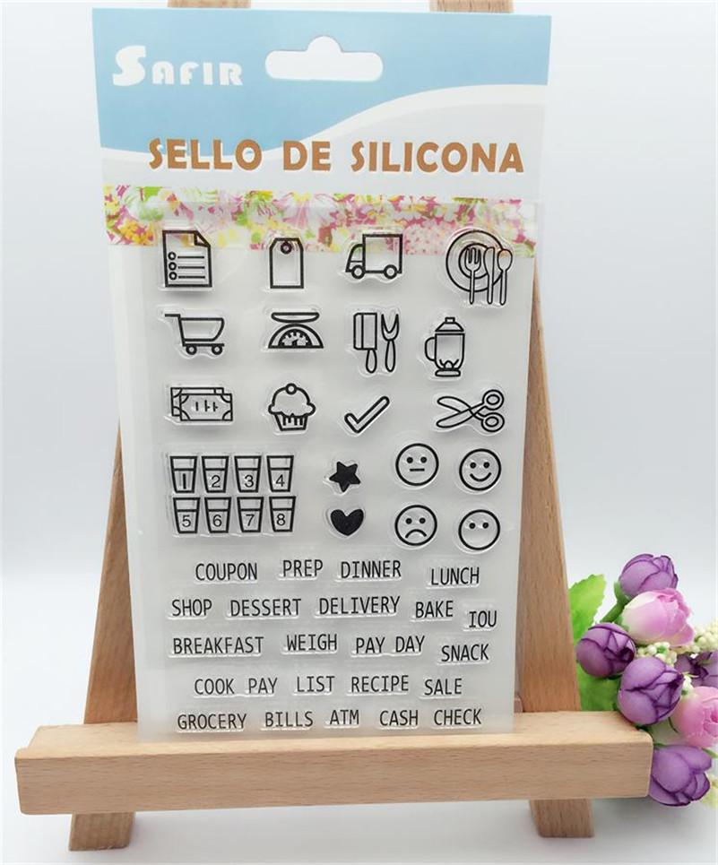 wholesale smiling face calendar design for transparent clear silicone stamp diy scrapbooking photo album clear stamp christmas gift cl 314 rubber stamp ink