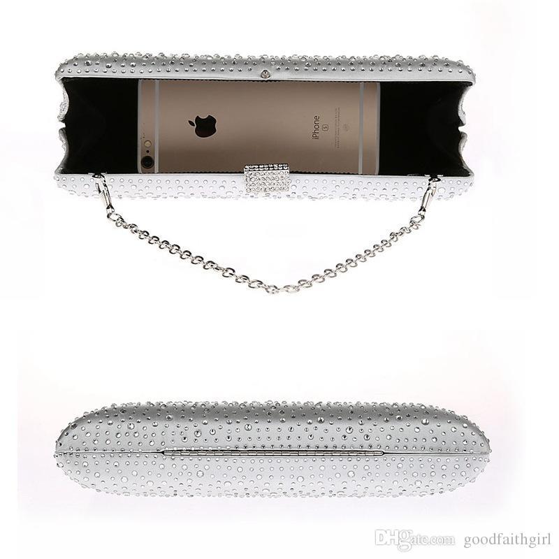 2017 neue Ankunft Diamante Diamant Kristall Abendtasche Clutch Geldbörse Party Prom Hochzeit Braut Brieftasche Telefon Fall Handtasche Weihnachtsgeschenk