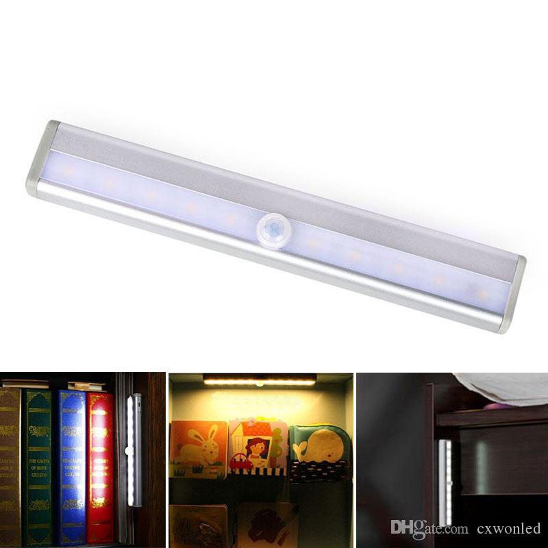 LED Cabinet Lights USB Lithium Battery Rechargeable Wireless Lamp Body Sensing Light Bar Magnetic Strip Wall Light
