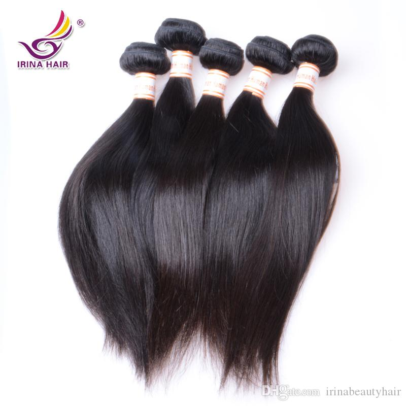 İşlenmemiş Perulu Bakire Saç Düz 6 Demetleri 100 g / adet Ucuz Perulu Düz Saç Atkı 100% Remy Ham Virgin İnsan Saç Demetleri