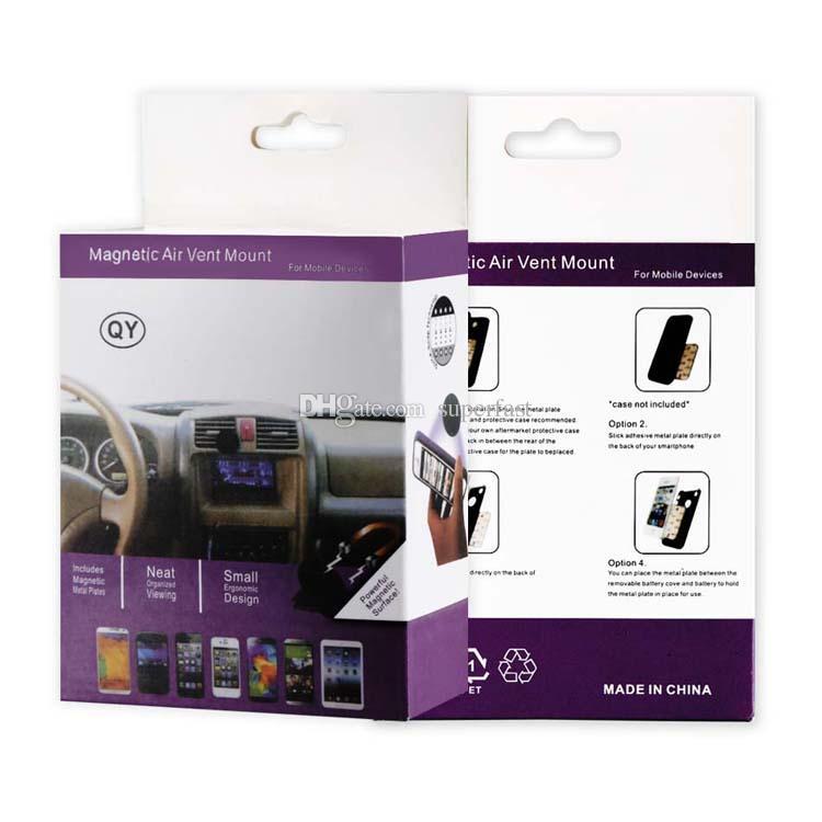 سيارة جبل تنفيس الهواء حامل سيارة المغناطيسي للهواتف GPS تنفيس الهواء لوحة سيارة جبل حامل مع صندوق البيع بالتجزئة