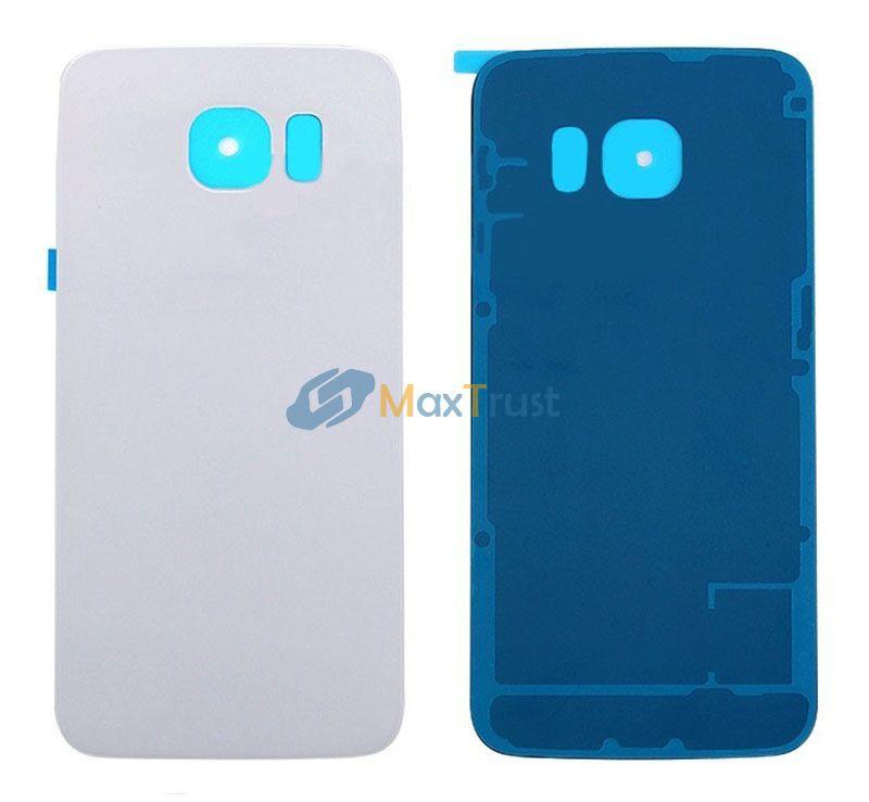 Qualité supérieure pour Samsung Galaxy S6 Edge G925 G9250 G925F Couvercle de batterie arrière Porte de boîtier arrière avec adhésif 3 Couleur