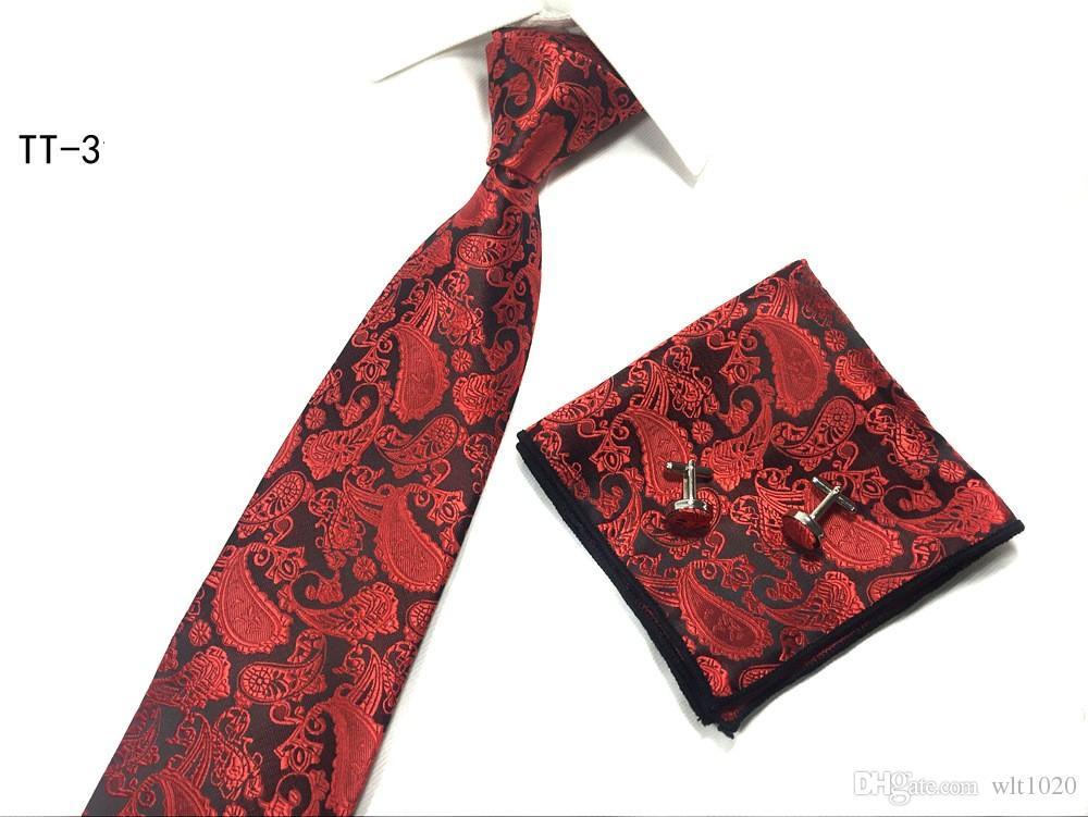 Conjunto de corbatas de moda corbatas pañuelos pañuelos bolsillo cuadrado poliéster corbatas 8 cm de ancho
