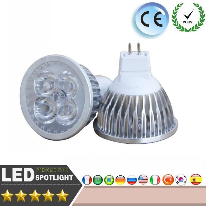 High Power Led Spotlight Lamp Light Mr16 12v 4x3w 12w Led Dimmable ...