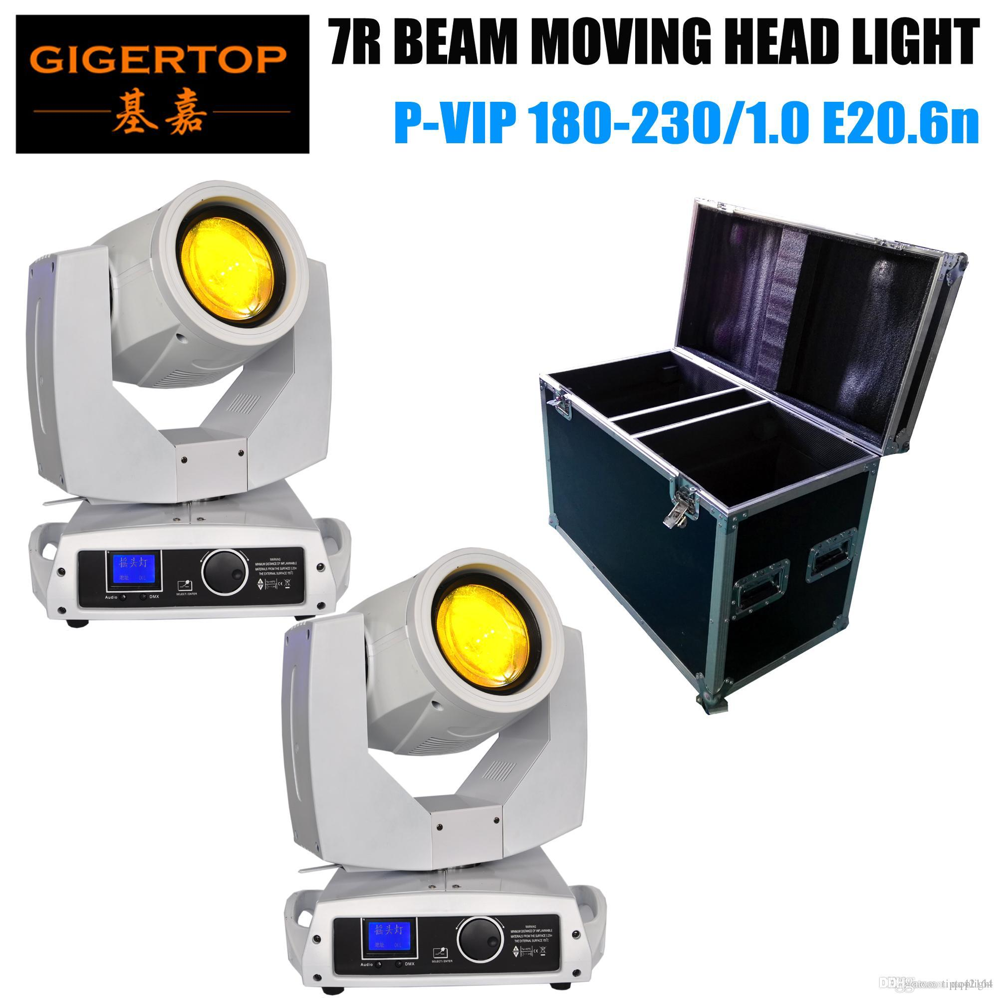 2in1 Road Pack impilabile American DJ Vizi Beam 5R Moving Head Light 7R Tecnologia lampada a scarica 8000K, cassa bianca da 2.000 ore