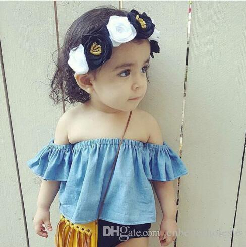 e1ec2ac7ed37 2019 2017 Infant Baby Girls Off Shoulder T Shirts Toddler Fashion Cotton  Jumper Tees Babies Spring Casual Shirts Children S Clothing From  Cnbestwholesle