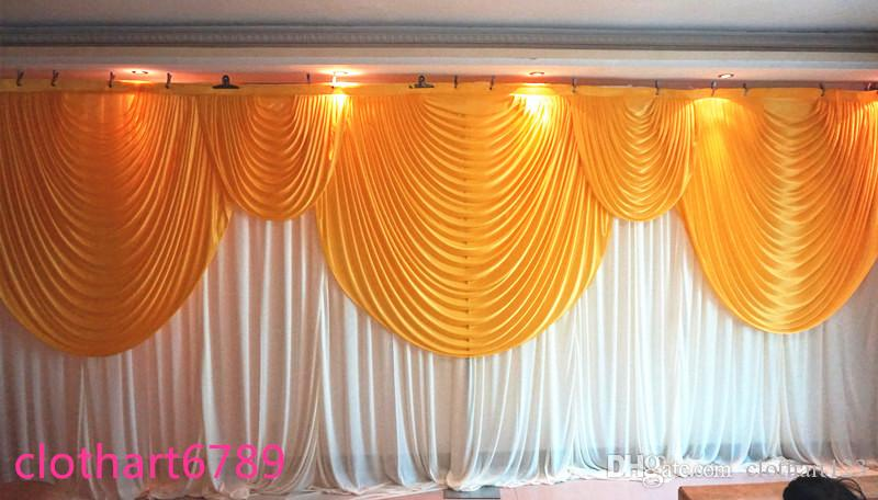 3m 6m wedding backdrop with swags backcloth party curtain