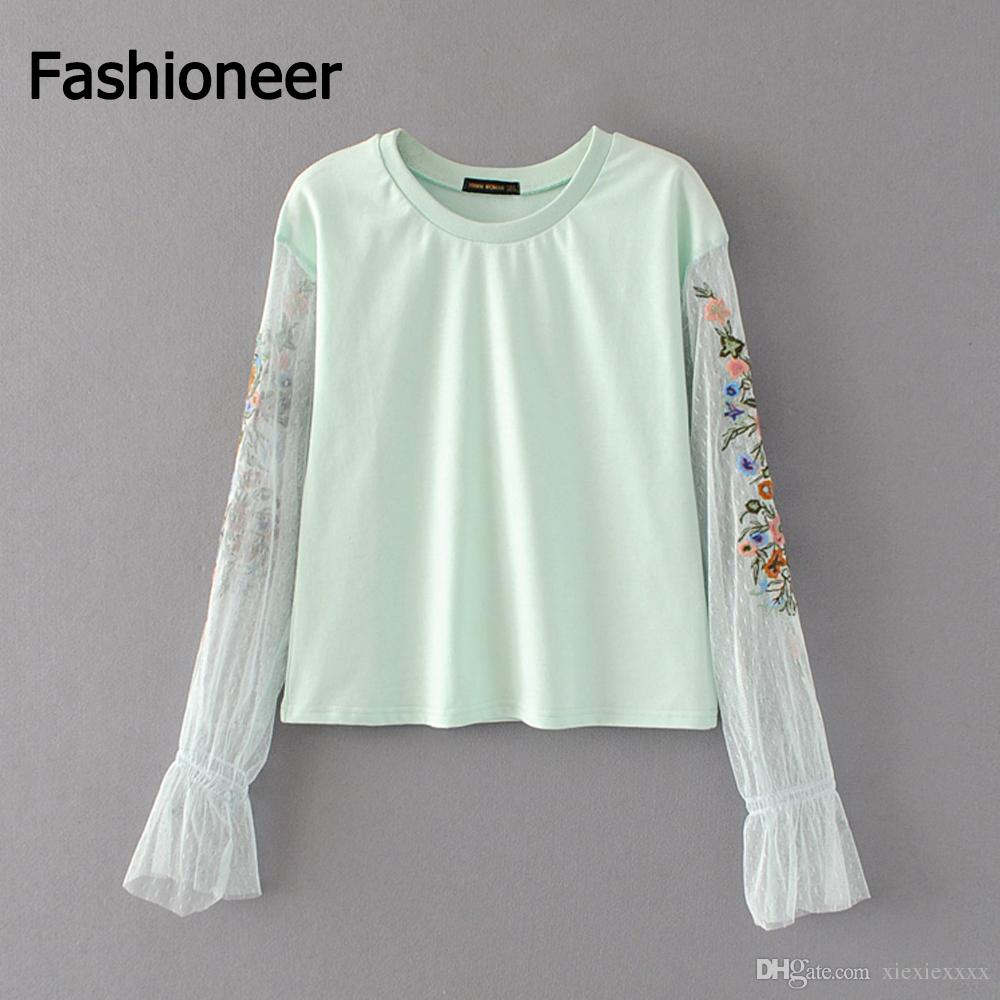 784949a2e0739 2019 Fashioneer Vintage Ethnic Floral Embroidery Blouse Cross Stitch Lace  Spliced Linen O Neck Shirt Fashion Women Long Sleeve Tops From Xiexiexxxx