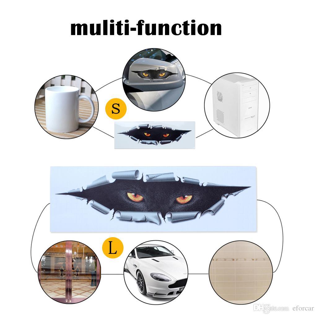 Coole 3D Aufkleber Aufkleber Auto Styling Lustige Katze Augen Spähen Wasserdicht Spähen Monster Auto Zubehör