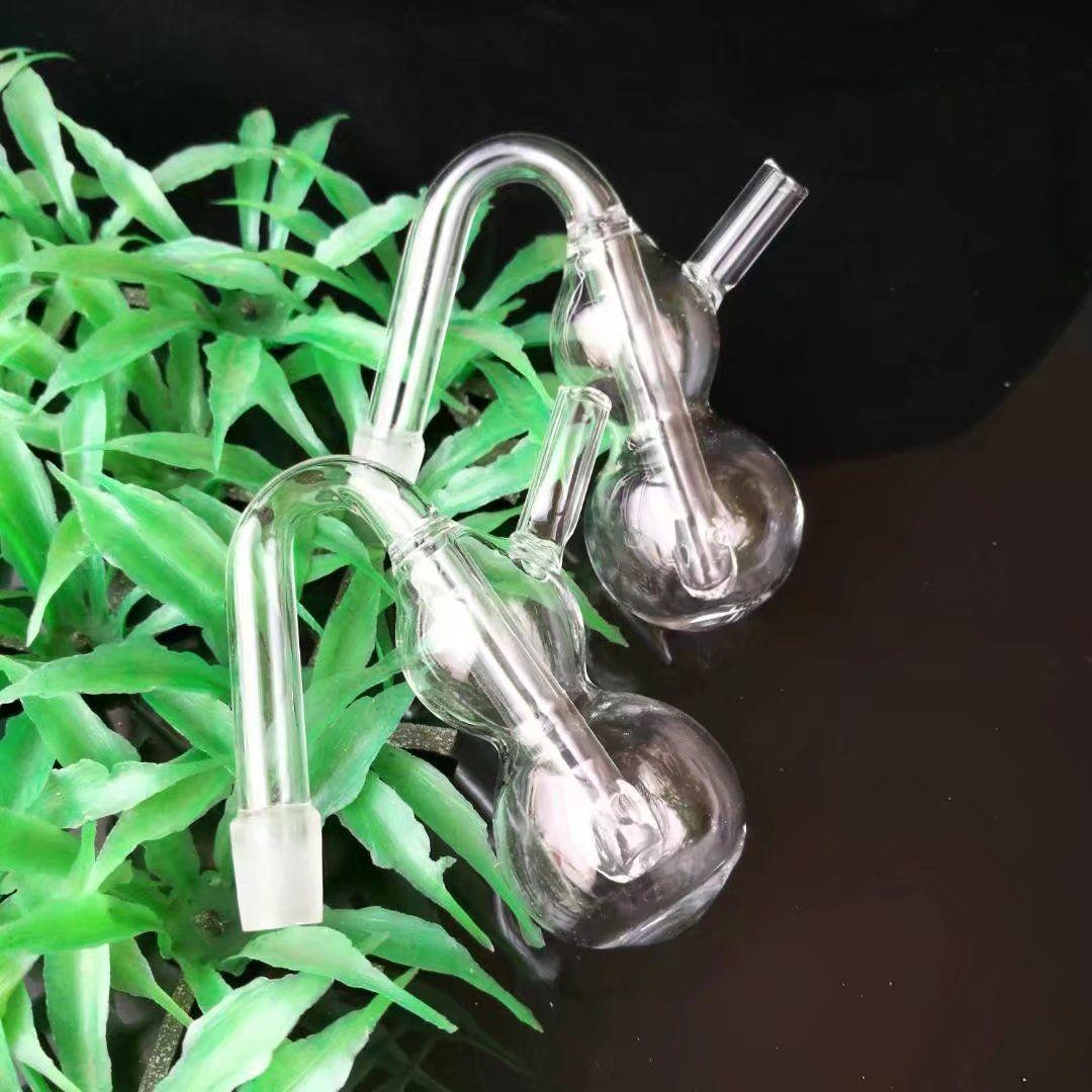 Accesorios transparentes de los bongs de cristal del enchufe de la calabaza, accesorios al por mayor de los bongs de cristal, cachimba de cristal, envío libre del humo de la pipa de agua