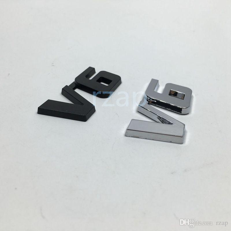 / 3D coffre arrière en métal Couvercle Emblem Decal Logo Badge Chrome V6 voiture Fender Nameplate Sticker