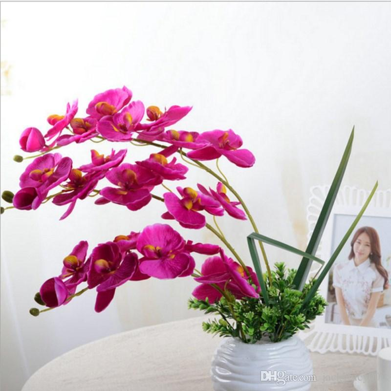 Beautiful Butterfly Orchid Silk Flower Home Wedding Party Phalaenopsis Bouquet O
